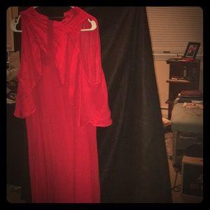 Eloquii Red hot Caped Dress
